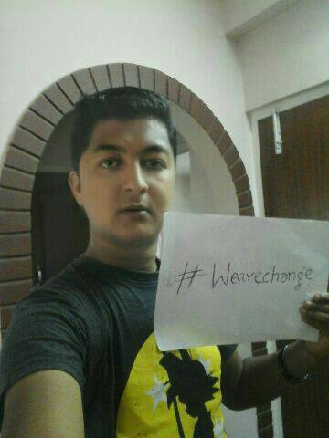 Thanks to Shirish B from Nepal for participating in #wearechange!