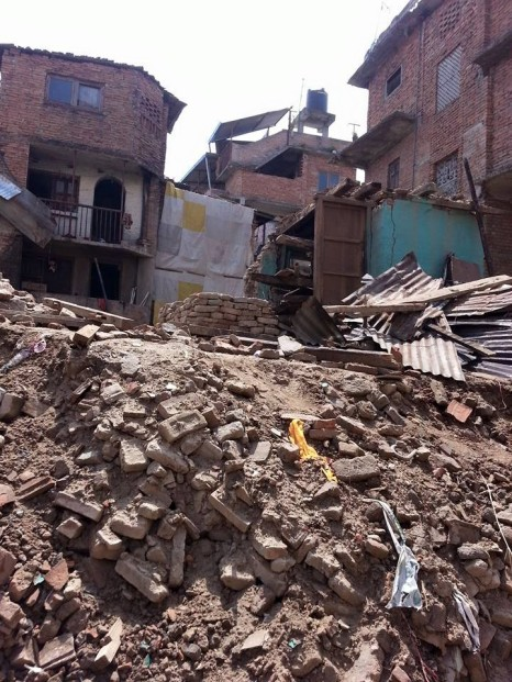 An example of the devastation in Nepal.